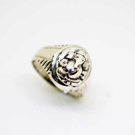 Strings 925 Sterling Silver Ganesha Male Ring