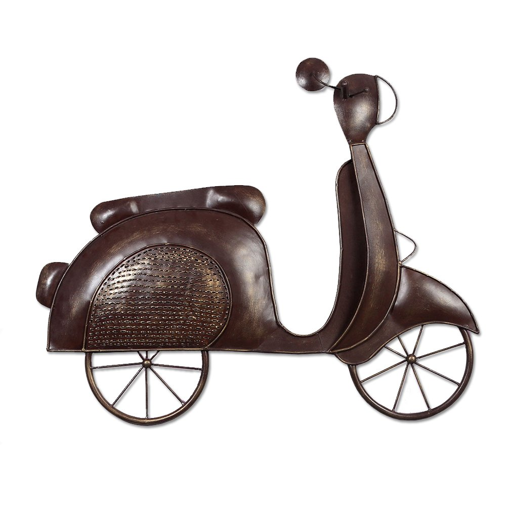 The India Craft Glorious Moped Artwork Metal Iron Scooter