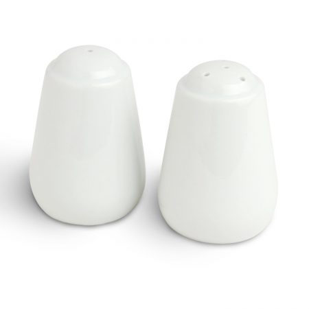 Urban Snackers Pepper & Salt Pot 3IN (8cm), Triangle Shaped White Porcelain, for Dining Table, Kitchen and Hotel