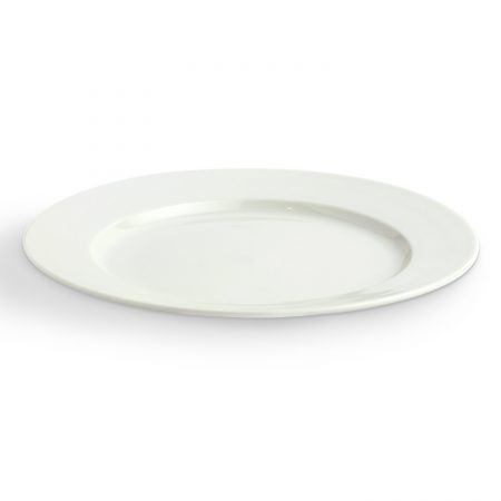 Urban Snackers Winged Plate 28 cm, White Porcelain, For Serving Breakfast, Dining And Snacks|Gifting Accessories|In Hotels, Kitchen, Home