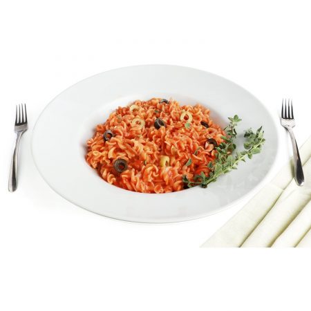 Urban Snackers Winged Pasta Plate 30 cm, White Porcelain, for Serving Breakfast and Snacks|Gifting Accessories|in Hotels, Kitchen, Home, Restaurant