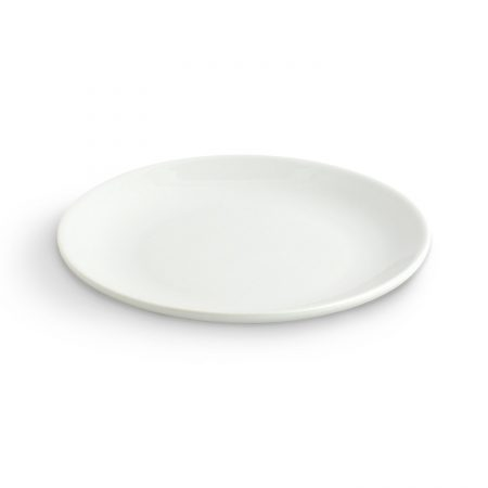 Urban Snackers Coupe Plate 28 cm, White Porcelain, For Serving Breakfast and Snacks|Gifting Accessories|In Hotels, Kitchen, Home, Restaurant