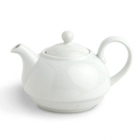 Urban Snackers Tea Pot 12OZ/34CL, White Porcelain Tea Pot, for Serving Tea in Hotel & Home, Tea Lover, Gifting