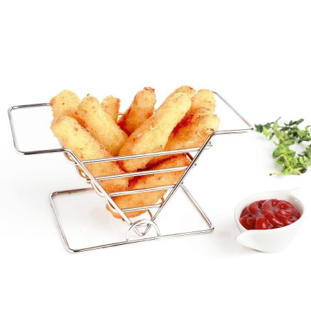 Urban Snackers Stainless Steel French Fry Serving Basket for Home, Kitchen, Hotel, Party, Celebration, Restaurants