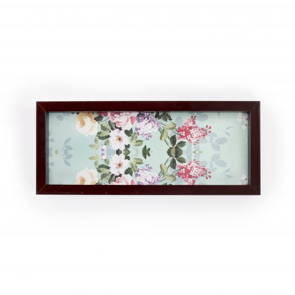 FireFlies Handcrafted Vintage Charm 5x12 inch Serving Tray with Acrylic Insert For Dining Tableware, Welcoming Guests, Table Décor, Kitchen Serveware, Breakfast Coffee Table Tray, Butler Serving Trays, Decorative Tray with Antique Touch
