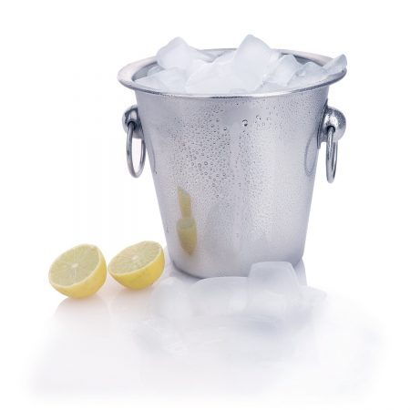 Ice Bucket Plain With Knob & Ring 14 Cm (Stainless Steel) by Urban Snackers