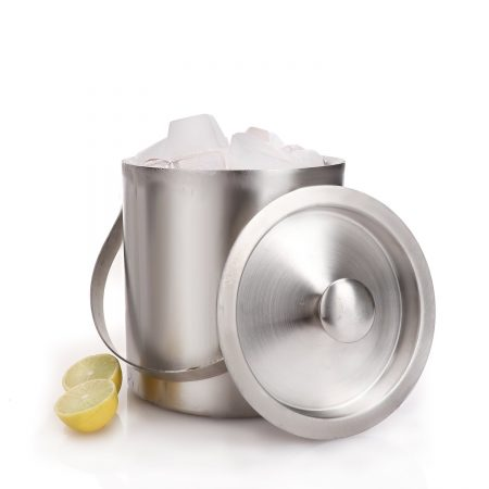 Urban Snackers Ice Bucket Double Wall With Cover (Stainless Steel)