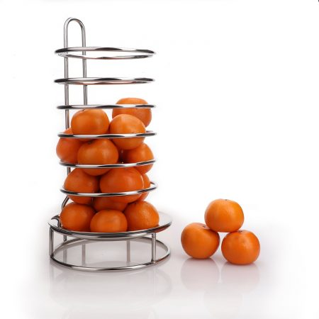 Urban Snackers Fruit Stand/Dispenser Rack Display Stand (Stainless Steel)