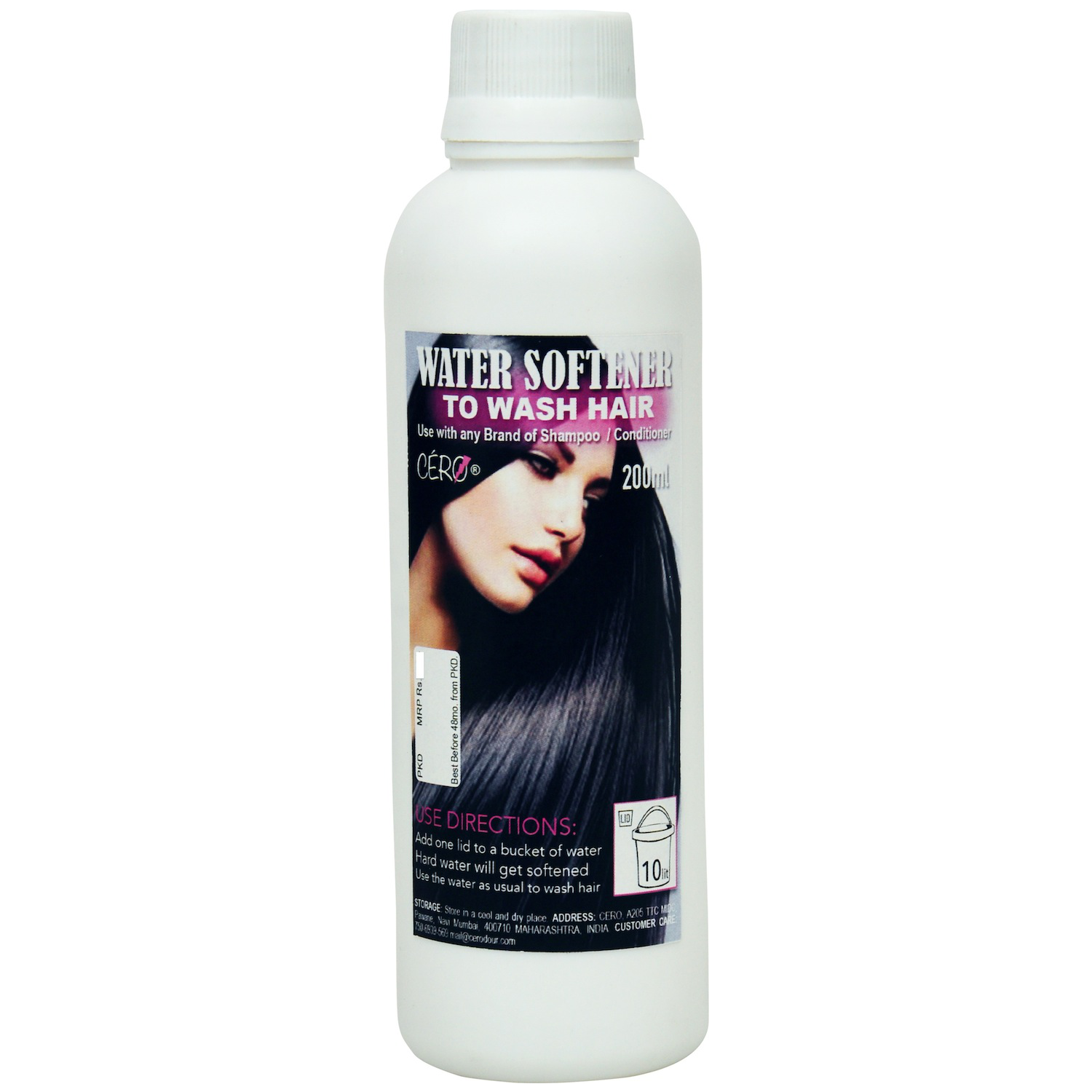 Cero Water Softener To Wash Hair Use With Any Brand Of Shampoo / Conditioner